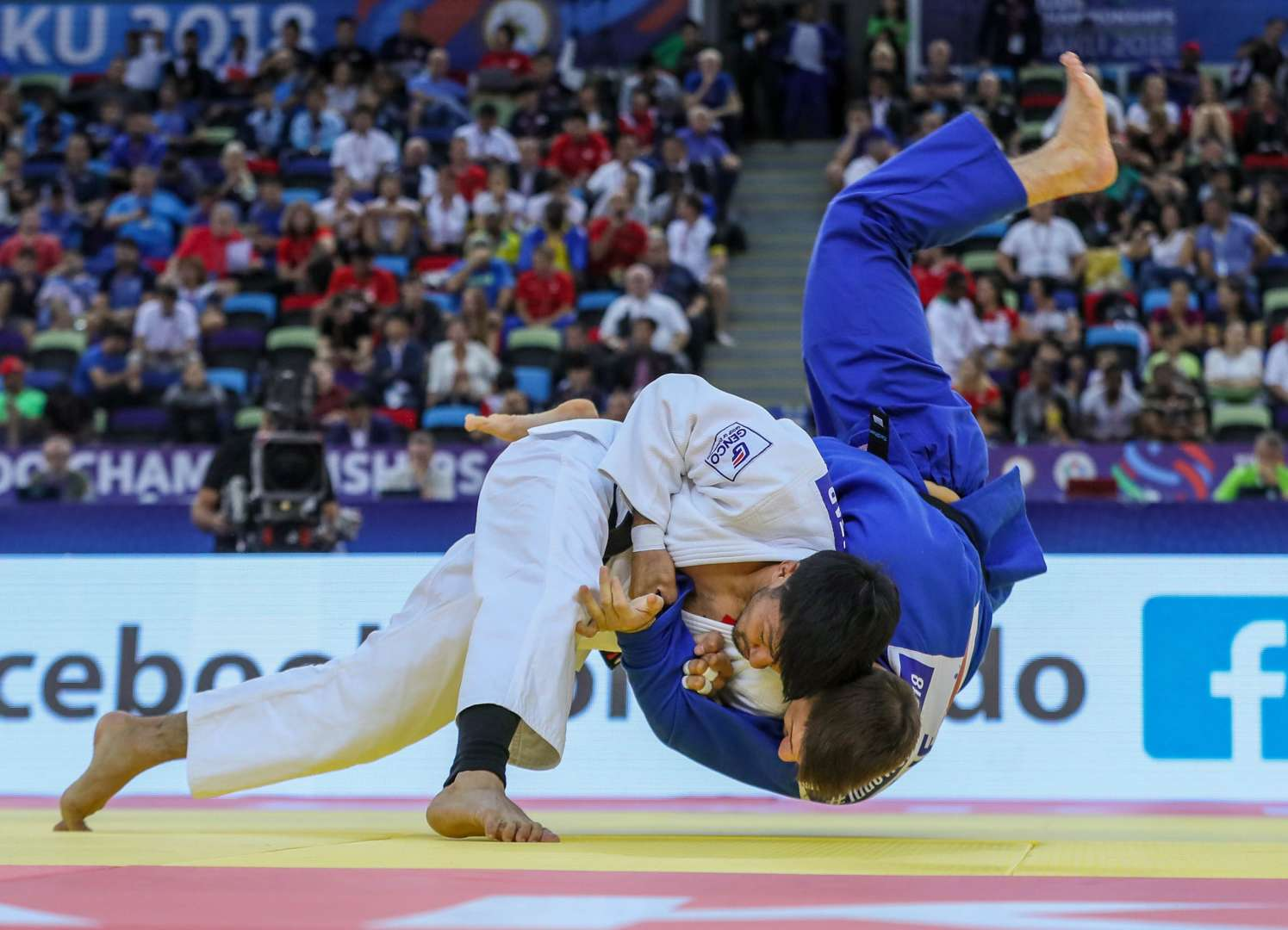 Judo throw during an international competition
