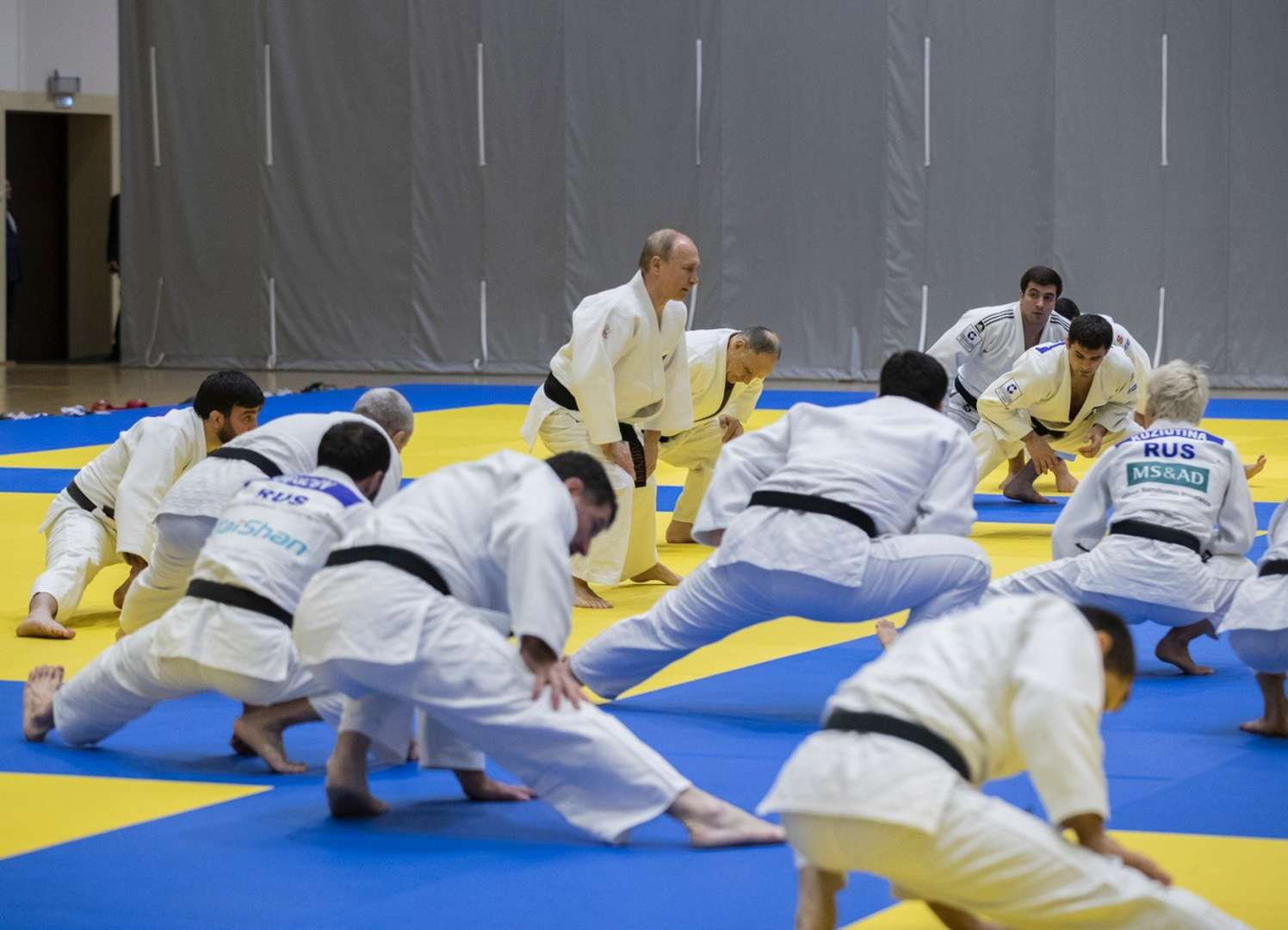 Russian Federation President Vladimir Putin Trains With National Judo Team In Sochi Ijf Org