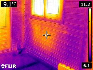 Infraroodbeelden waarin het warmteverlies in de buitenmuren wordt weergegeven