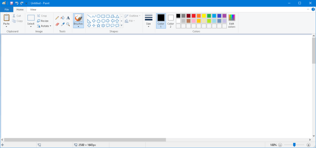 Open Paint and Press Ctrl+ V to paste screenshot
