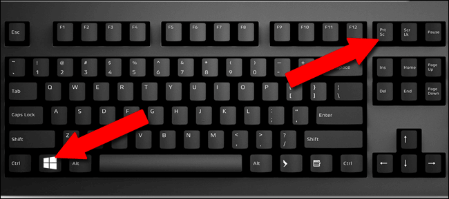 Press Win + PrtSc from keyboard to Capture Image