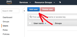 Add New User in IAM for AWS