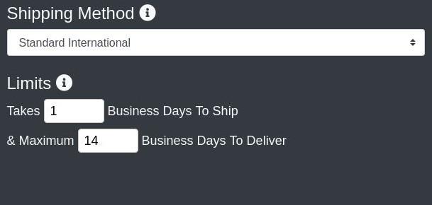 create a shop - shipping method