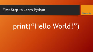 Python: the First Step to Learn python