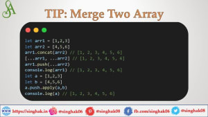 Four important ways to Merge Array in Javascript