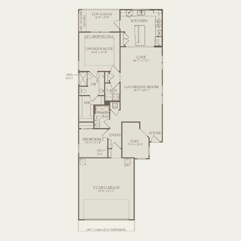 Taft Street in Ponte Vedra FL at Del Webb Ponte Vedra – Del Webb Taft Street Floor Plan