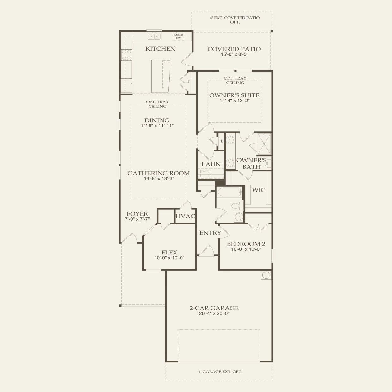 Taft Street in Richmond TX at Del Webb Sweetgrass – Del Webb Taft Street Floor Plan