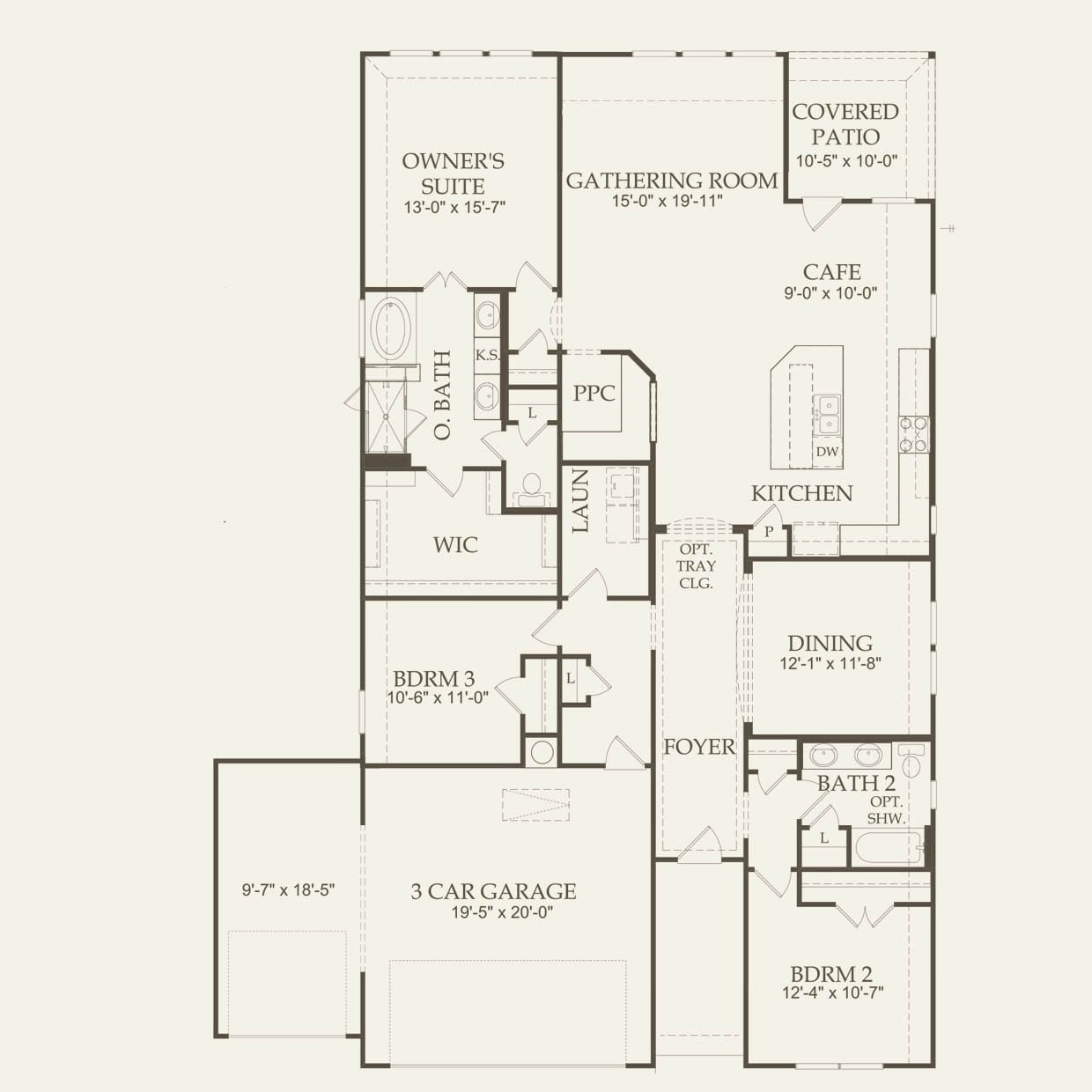 McKinney 3 Car Garage in San Antonio, TX at Davis Ranch | Pulte on ranch home plans with pool, duplex plans with no garage, ranch home plans with breezeway, small house plans with no garage, ranch home plans with carport,
