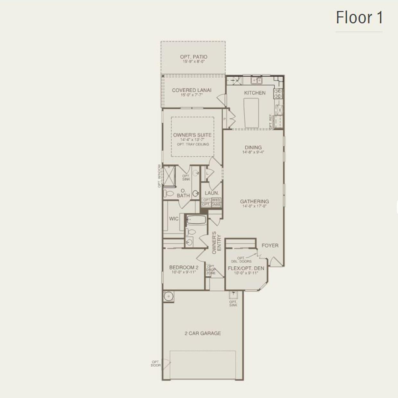Taft Street in Griffin GA at Sun City Peachtree – Del Webb Taft Street Floor Plan