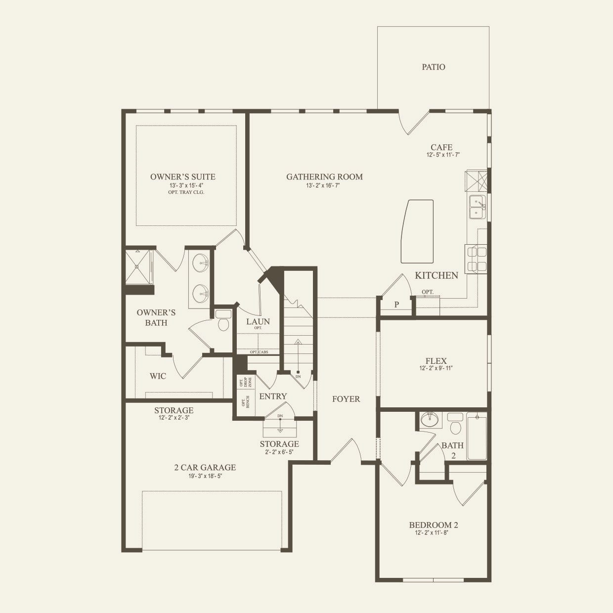 Abbeyville The Villas In Lake Orion Mi At Parkview Pulte Villa Electrical Plan First Floor
