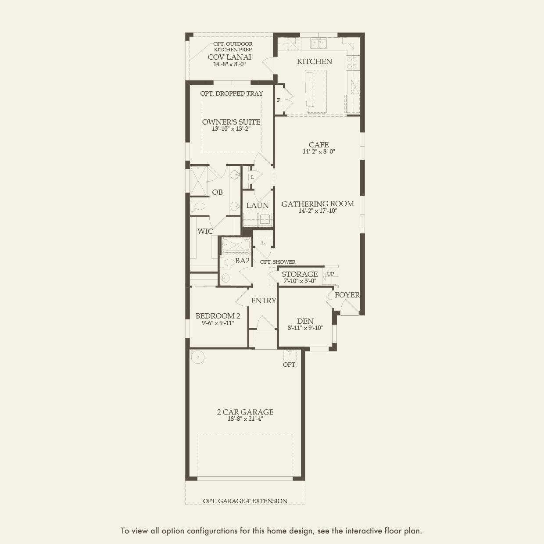 Taft Street in Estero FL at Corkscrew Shores – Del Webb Taft Street Floor Plan