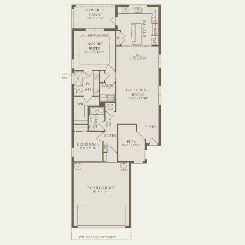 Taft Street in Davenport FL at Del Webb Orlando – Del Webb Taft Street Floor Plan