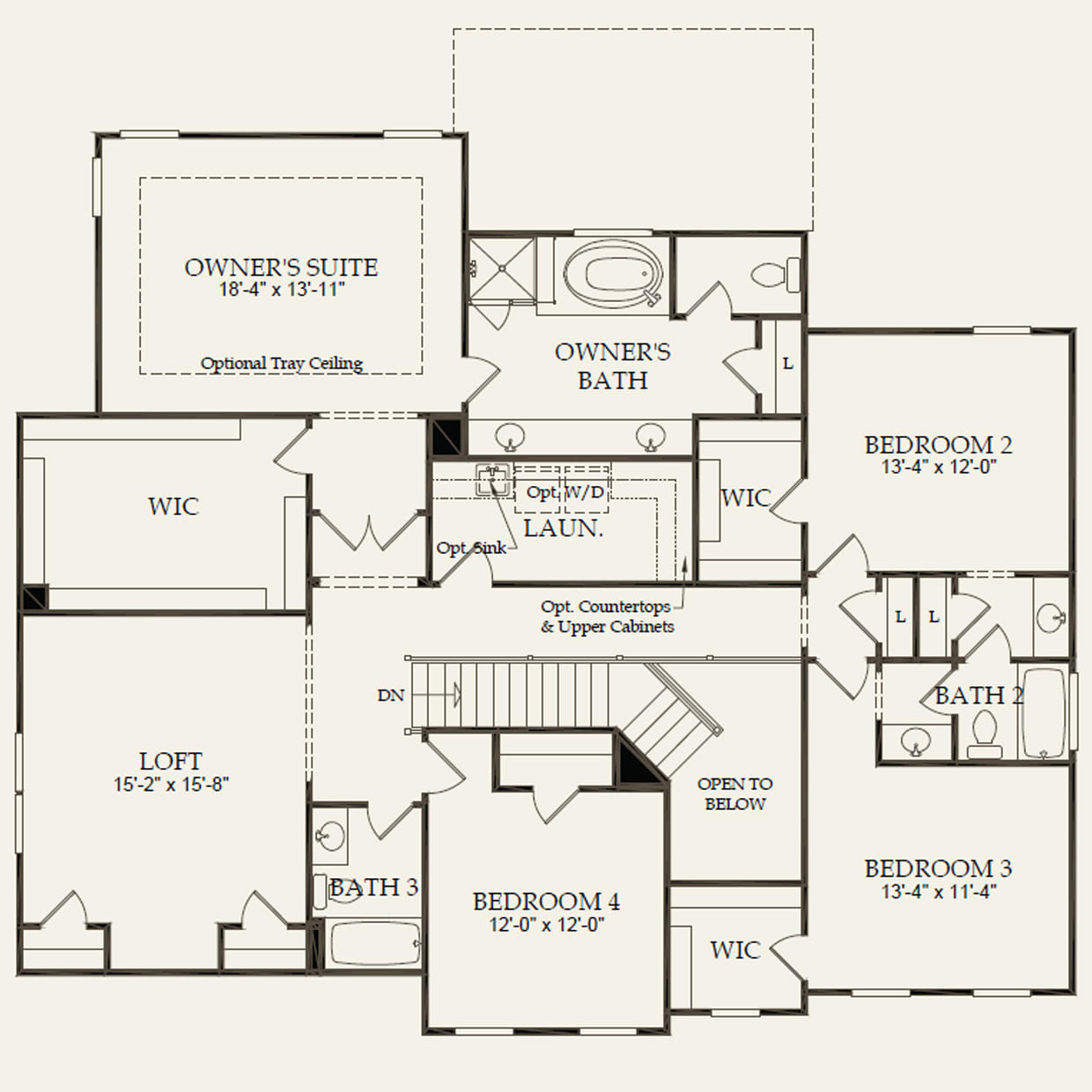 Worthington In Matthews Nc At Castleford Pulte Kitchen Plumbing Diagram Shematic Second Floor