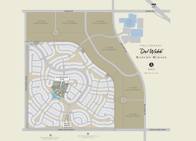 Rancho Mirage Zip Code Map.New Homes In Rancho Mirage California At Del Webb At Rancho Mirage