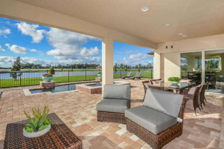 new homes in orlando florida at lake pickett reserve pulte