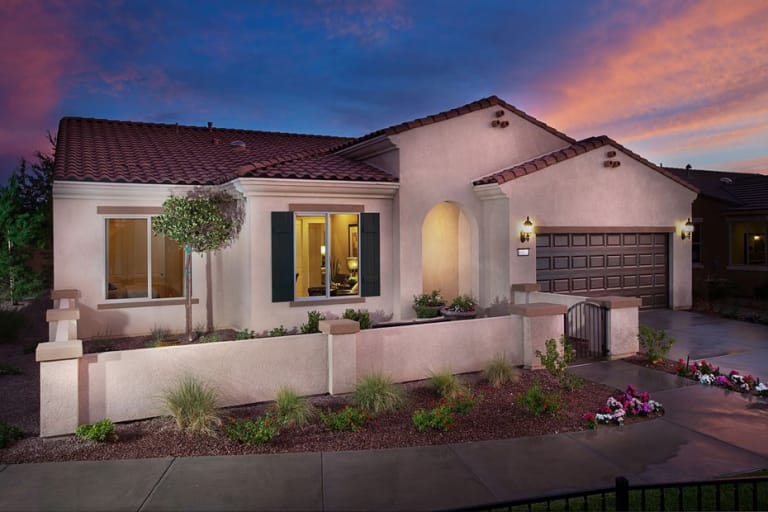 New homes in apple valley california at sun city apple valley del exterior spanish colonial with optional courtyard malvernweather Images
