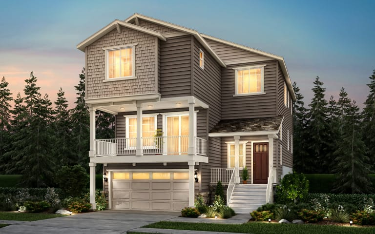 Carillon in kirkland wa at marinwood pulte carillon a three story single family home with a two car garage shown solutioingenieria Choice Image