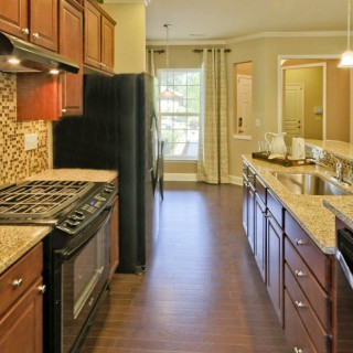 Black Appliances and Granite Countertops