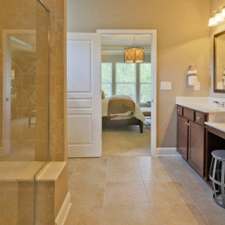 Owner's Bath with walk-in shower and bench