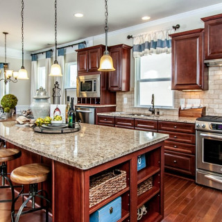 The Preferred Plus Package: Upgraded granite countertops