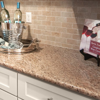 Tile Backsplash with Granite Countertops