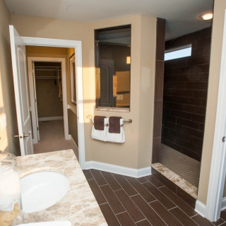 Ceramic Tile Floors in Owner's Bath