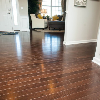 Engineered Hardwood Flooring in Foyer
