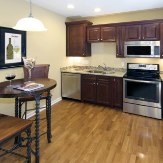 Stainless Steel Appliances & under cabinet lighting