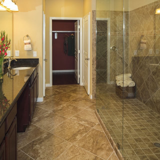 Owners Bathroom - Glamour Walk-In Shower with tile surround
