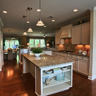 gourmet kitchen in a Sun City Hilton Head new home