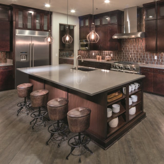 gourmet kitchen in a pulte home