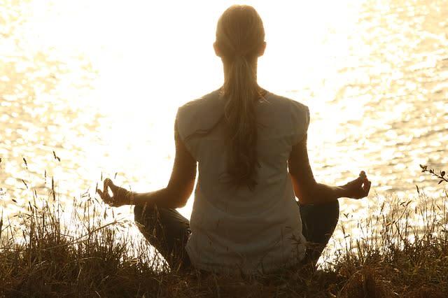 test – klid, meditace