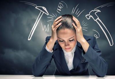žena práce stres