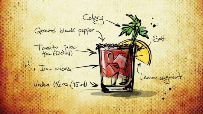 bloody mary koktejl recept
