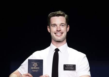 "Liam Tobin in ""The Book of Mormon."" With book, music and lyrics by Trey Parker, Robert Lopez and Matt Stone, choreography by Casey Nicholaw and d direction by Nicholaw and Parker, ""The Book of Mormon"" will be presented by Center Theatre Group at the Ahmanson Theatre February 18 through March 29, 2020. For more information, please visit CenterTheatreGroup.org. Press Contact: CTGMedia@CTGLA.org / (213) 972-7376. Photo by Julieta Cervantes."