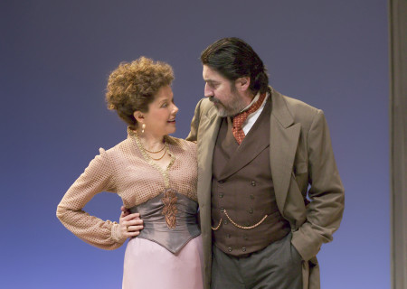 "Annette Bening and Alfred Molina in ""The Cherry Orchard"" at the Mark Taper Forum. Bening and Molina will participate in Center Theatre Group's 50th Anniversary Celebration on Saturday, May 20, 2017, at the Ahmanson Theatre. For more information, visit CenterTheatreGroup.org/50thCelebration. Media Contact: CTGMedia@CenterTheatreGroup.org / (213) 972-7376. Photo by Craig Schwartz."