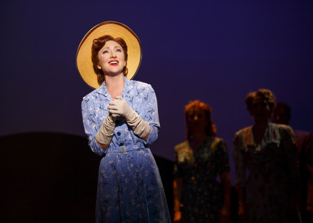 "Carmen Cusack in the original Broadway production of ""Bright Star."" ""Bright Star"" is part of the 2017-2018 season at the Ahmanson Theatre and will be presented by special arrangement with Joey Parnes Productions October 11 through November 19, 2017. For tickets and information, please visit CenterTheatreGroup.org/Ahmanson or call (213) 972-4400. Media Contact: CTGMedia@CTGLA.org / (213) 972-7376. Photo by Joan Marcus."