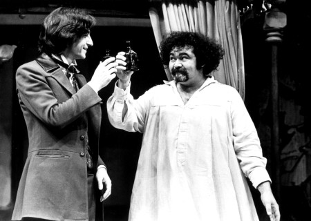 (L-R) Sam Waterston and Avery Schreiber in 'Volpone.'