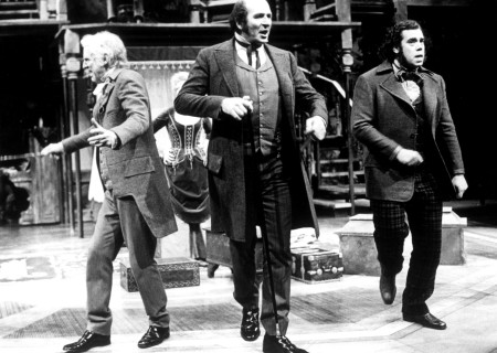 (L-R) William Schallert, Herb Edelman, and John Schuck in 'Volpone.'