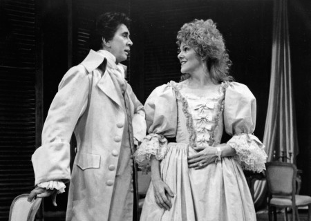 (L-R) Frank Langella as Le Vicomte de Valmont and Lynn Redgrave as La Marquise de Mertuil star in Christopher Hampton's production of  'Les Liaisons Dangereuses' at the Ahmanson.