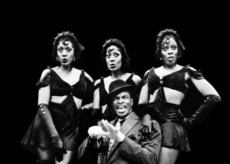 (L–R) Patty Holley, Phyliss Bailey, Keith David (seated), and Regina Le Vert in 'Jelly's Last Jam.'