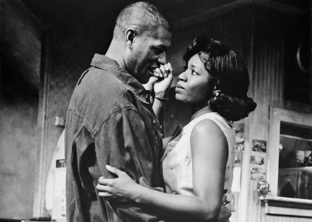 (L-R) Laurence Fishburne and Cynthia Martells appear in a scene from Lloyd Richards' Yale Repertory Theatre production of August Wilson's 'Two Train's Running.'