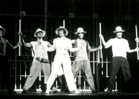 "Chita Rivera and the cast of ""Kiss of the Spider Woman."""