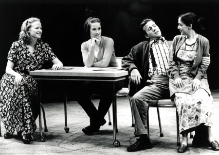 "(L–R) Johanna Day, Molly Ringwald, Justin Hagan, and Rona Benson in ""How I Learned to Drive."""