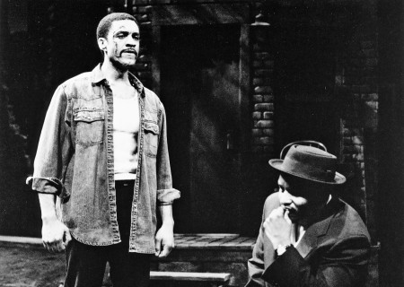 (L–R) Harry Lennix and Charles Brown in August Wilson's 'King Hedley II.'