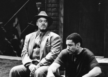 (L–R) Charles Brown and Harry Lennix in August Wilson's 'King Hedley II.'