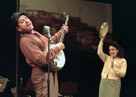 (L–R) Rick Salinas and Eileen Galindo in 'Chavez Ravine.'
