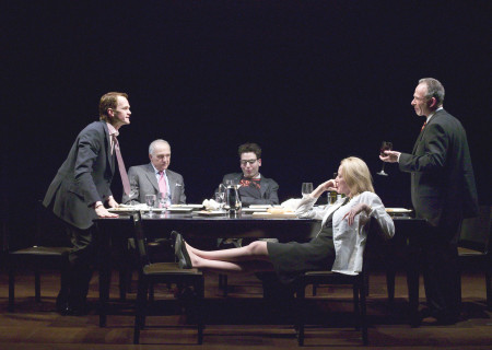 (L-R) Neil Patrick Harris, Lawrence Pressman, Josh Radnor, Patricia Wetting and Ron Rifkin in the World premiere of Jon Robin Baitz's 'The Paris Letter.'
