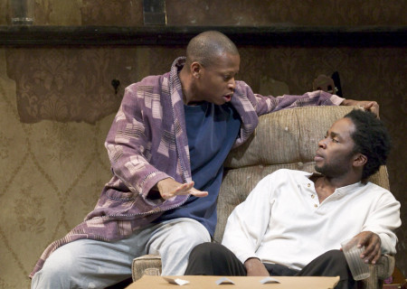 (L–R) Larry Gilliard, Jr. and Harold Perrineau in 'Topdog/Underdog.'