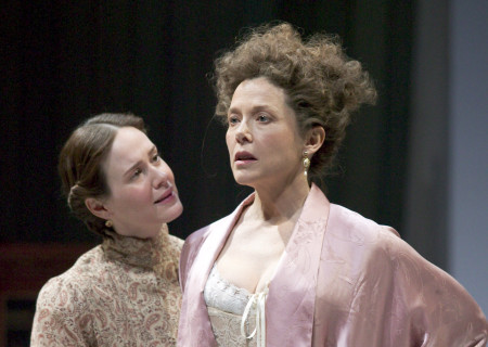 (L-R) Sarah Paulson and Annette Bening in Anton Chekhov's 'The Cherry Orchard.'